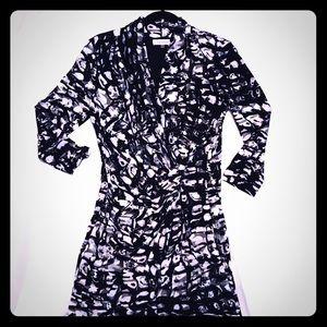 Calvin Klein Faux Wrap Dress, Small